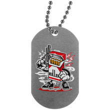 Load image into Gallery viewer, Cigarette Killer Silver Dog Tag