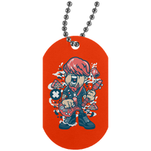 Load image into Gallery viewer, Broken Guitar Silver Dog Tag