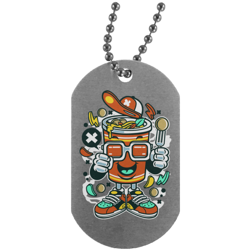 Cup Noodle Silver Dog Tag