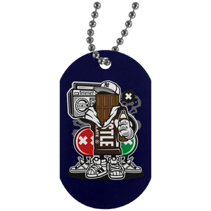 Chocolate Squad Silver Dog Tag