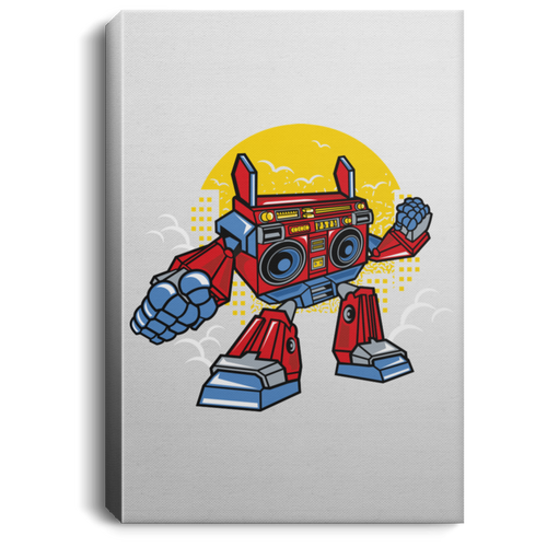 Boombox Robot Portrait Canvas .75in Frame
