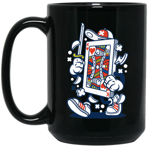 Playing Card 15 oz. Black Mug