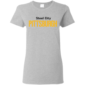 Pittsburgh 3 Ladies' 5.3 oz. T-Shirt
