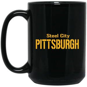 Steel City 15 oz. Black Mug
