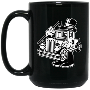 Old Truck 15 oz. Black Mug
