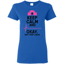 "Load image into Gallery viewer, ""Keep Calm"" Ladies' T-Shirt"