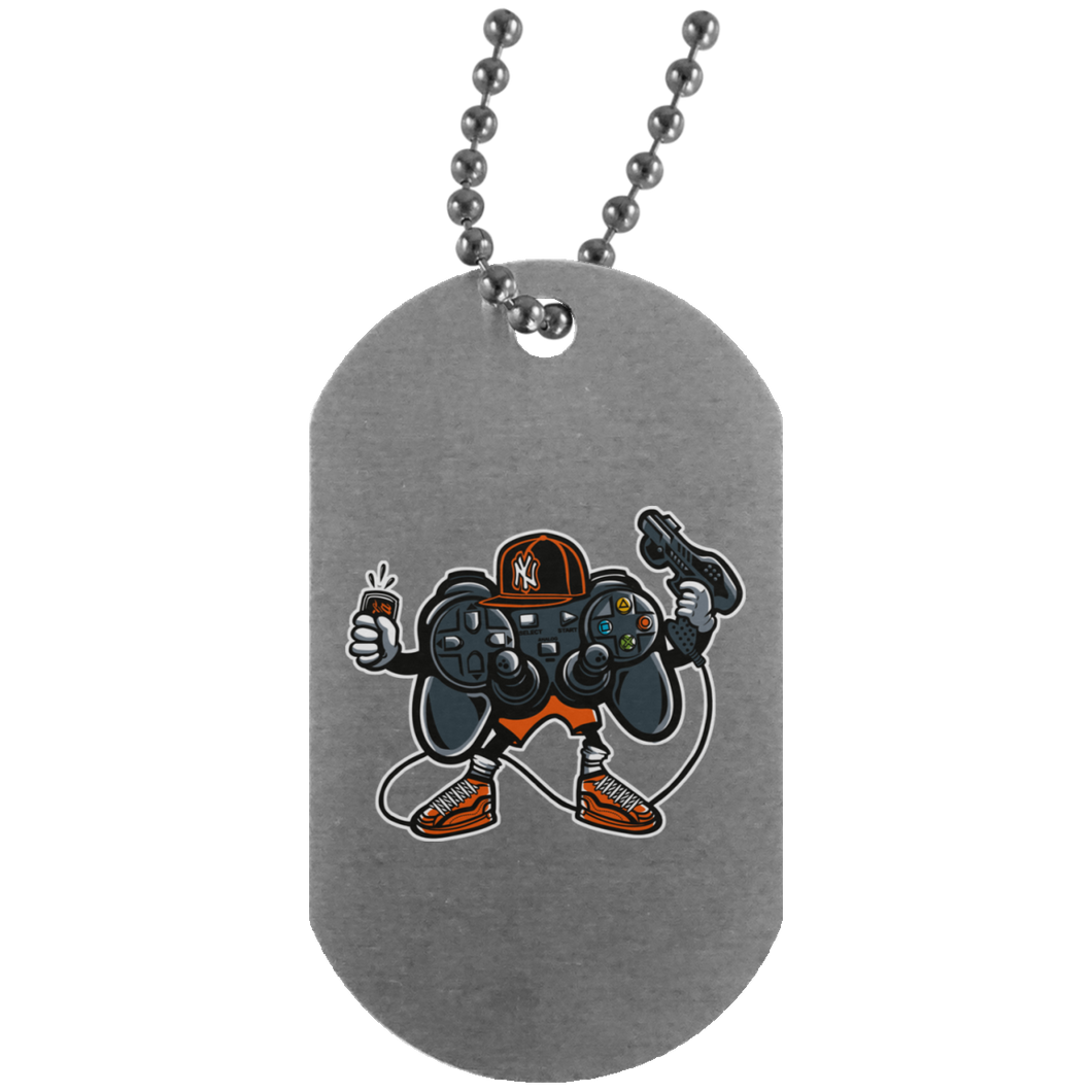 Let's Play 2 Silver Dog Tag