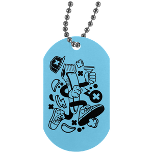 Hair Clipper Silver Dog Tag