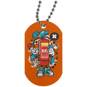 Fire Extinguisher Silver Dog Tag