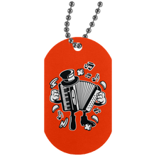 Load image into Gallery viewer, Accordion Silver Dog Tag