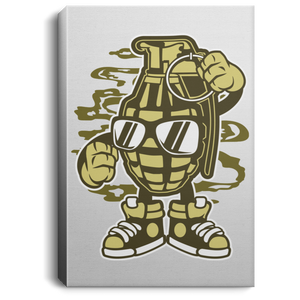 Grenade Portrait Canvas .75in Frame