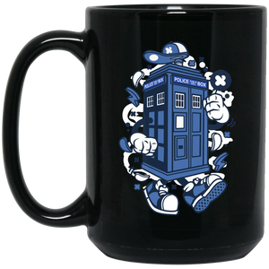 Police Box 15 oz. Black Mug