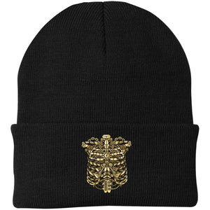 Steampunk Ribcage Knit Cap