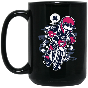 Motocrosser Mini 15 oz. Black Mug