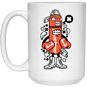 Punch Bag Boxer 15 oz. White Mug