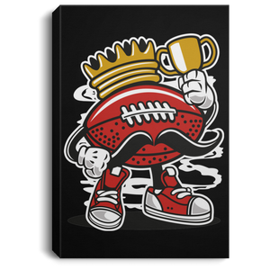 Football King Portrait Canvas .75in Frame