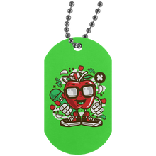 Load image into Gallery viewer, Apple Skater Silver Dog Tag