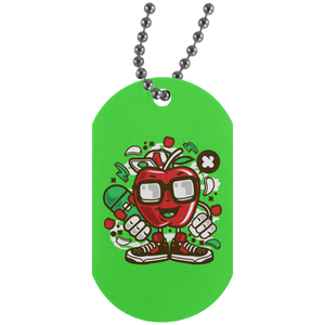 Apple Skater Silver Dog Tag