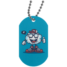 Load image into Gallery viewer, Funky Cloud Silver Dog Tag