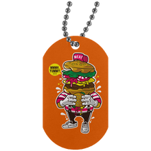 Load image into Gallery viewer, I love Burger Silver Dog Tag