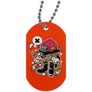 Firefighter Silver Dog Tag