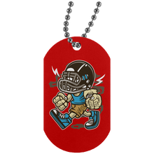 Load image into Gallery viewer, Football Bastard Silver Dog Tag