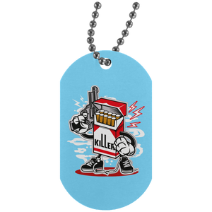 Cigarette Killer Silver Dog Tag