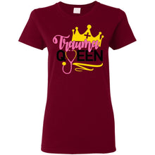 "Load image into Gallery viewer, ""Trauma Queen"" Ladies' T-Shirt"