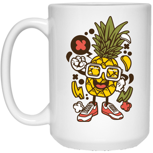 Pinneapple 15 oz. White Mug