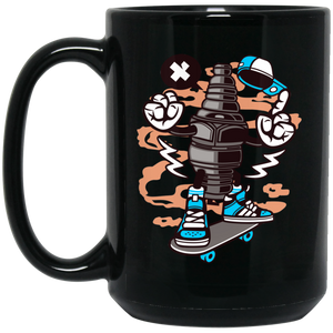 Sparkplug 15 oz. Black Mug