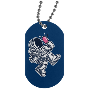Astronaut Ice Cream Silver Dog Tag