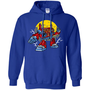 Boombox Robot Pullover Hoodie 8 oz.