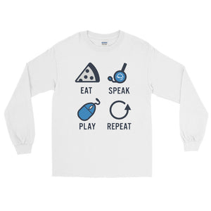 """Eat Speak Play Repeat"" - Long Sleeve T-Shirt"