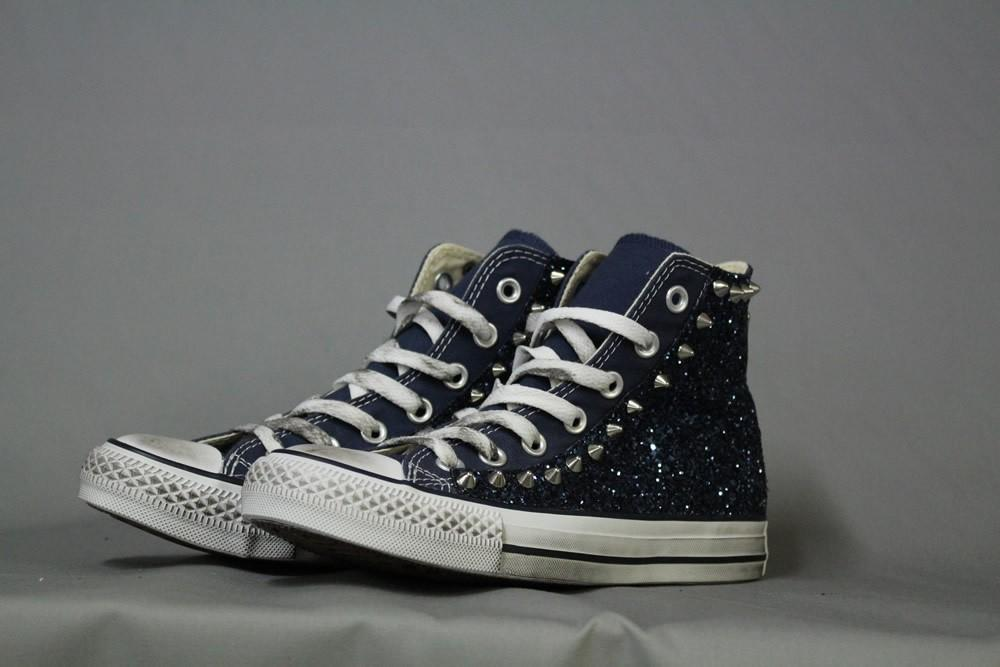 Converse All star navy glitter navy