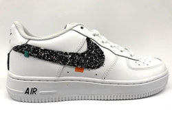 Nike Air Force One '07 sport 80's black silver