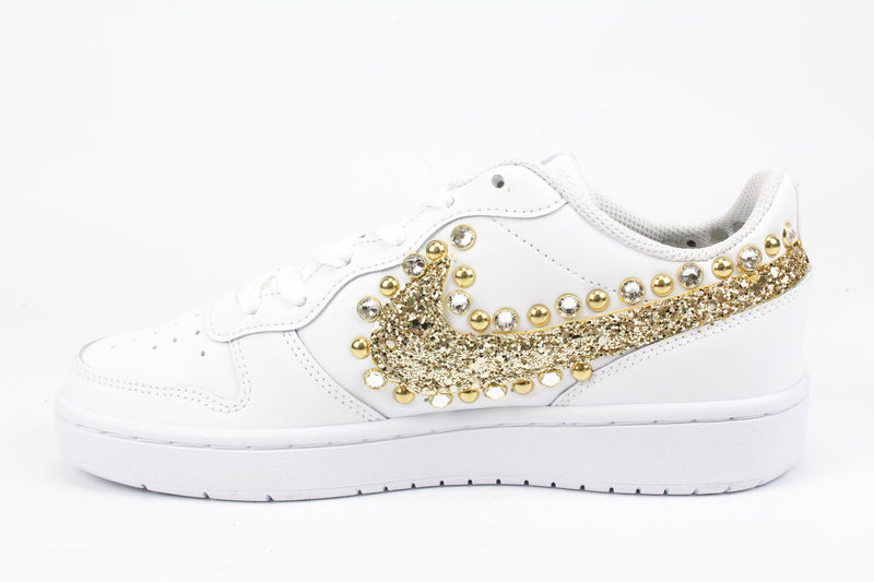 Nike Court Borough Low 2 Gold Glitter & Strass