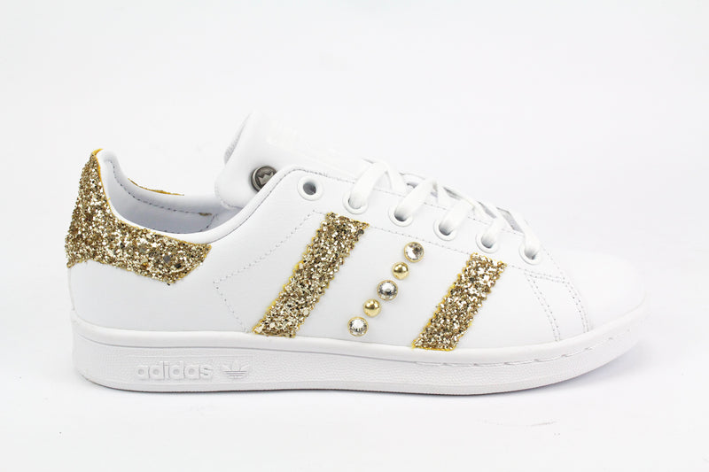 Adidas Stan Smith Gold Glitter & Strass