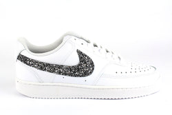Nike Court Vision Low Black Silver Glitter