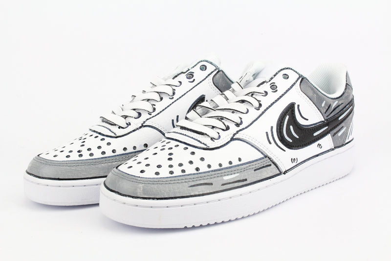 Nike Court Vision Low Grey Cartoons