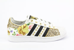 Adidas Superstar Fiori Gold Glitter & Borchie