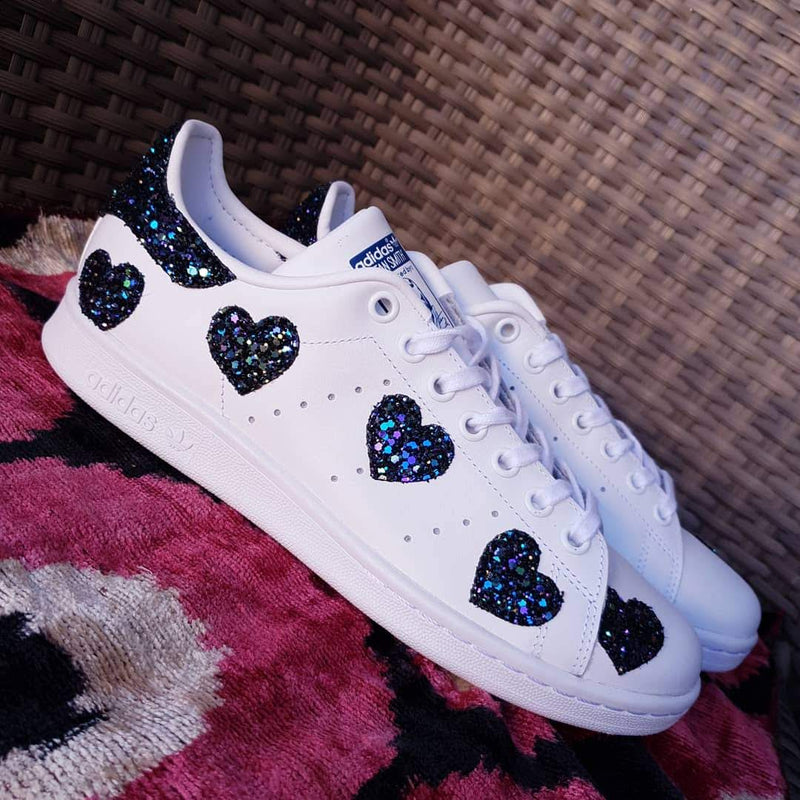 Adidas Stan Smith Cuori Black Iris Glitter