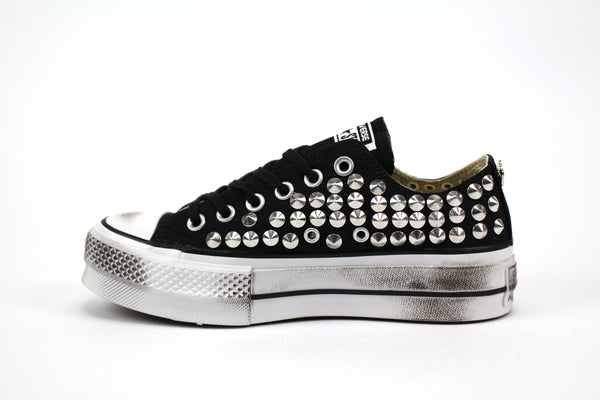 Converse All Star Platform Personalizzate Total Borchie