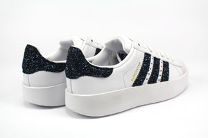 Adidas Superstar Bold Personalizzate Navy Glitter
