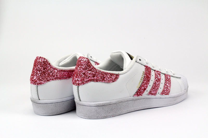 Adidas Superstar Personalizzate Pink Glitter