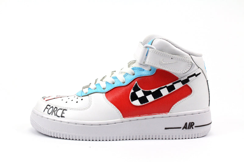 Nike Air Force 1 Mid Personalizzate Race
