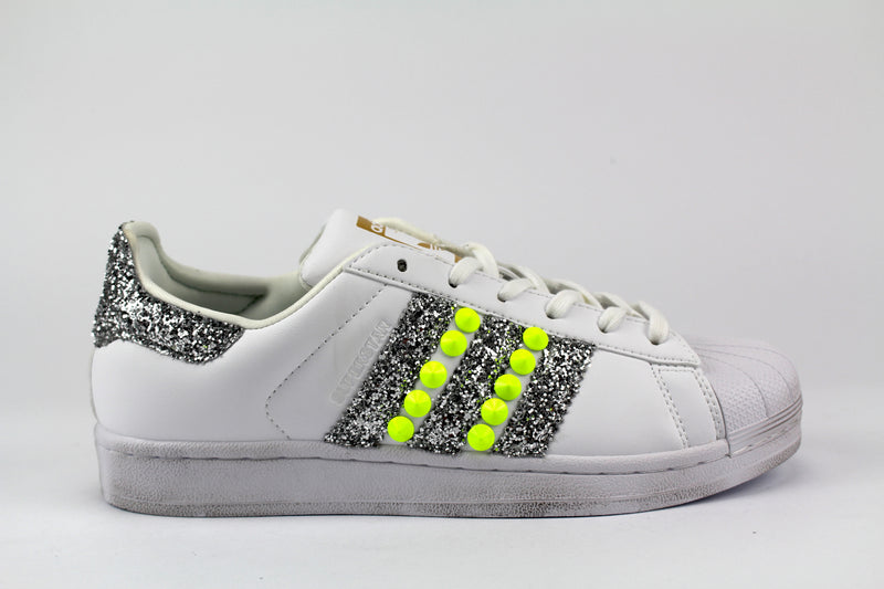 Adidas Superstar Personalizzate Yellow Fluo & Silver
