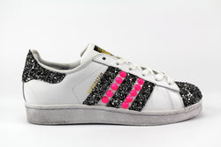 Adidas Superstar Pink Fluo & Total Black Silver