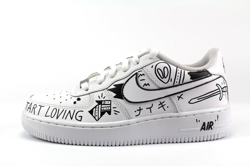 Nike Air Force 1 '07 Eye & Sword B/W