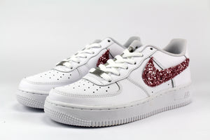 Nike Air Force 1 personalizzate '07 glitter pink