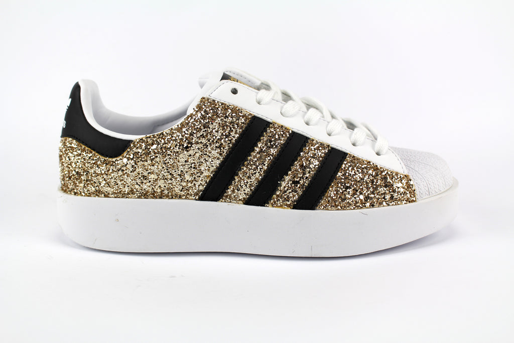 Adidas Superstar Bold Personalizzate Total Glitter Gold